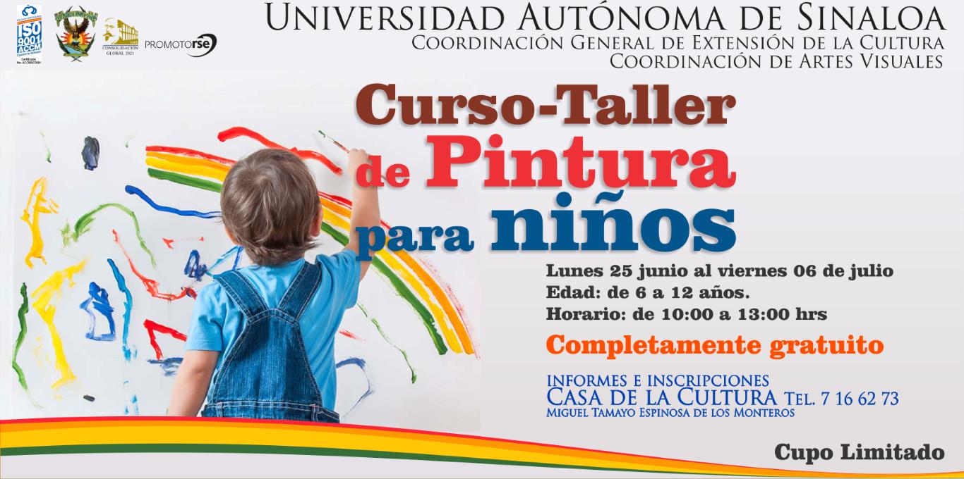 Cursotaller de Pintura para nios Verano 2018 Cultura UAS